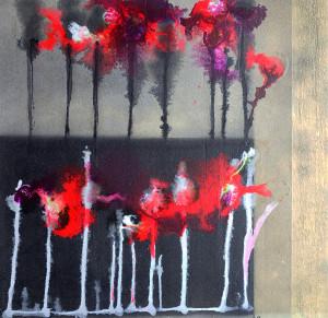 blommor på rad